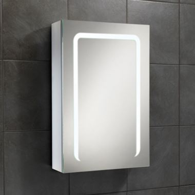 HiB Stratus 50 LED Illuminated Steam Free Mirror Cabinet with Shaver Socket - 500 x 700mm